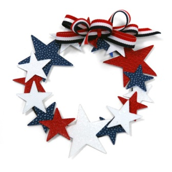 4th of July Star Wreath
