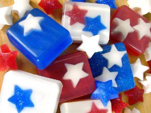 July 4th Star Soap