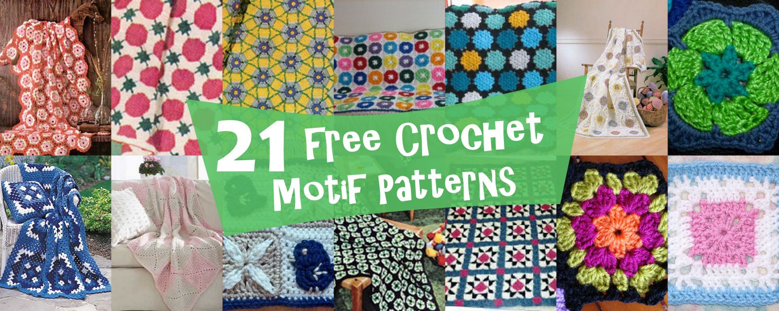 21 Free Crochet Motif Patterns | AllFreeCrochetAfghanPatterns.com