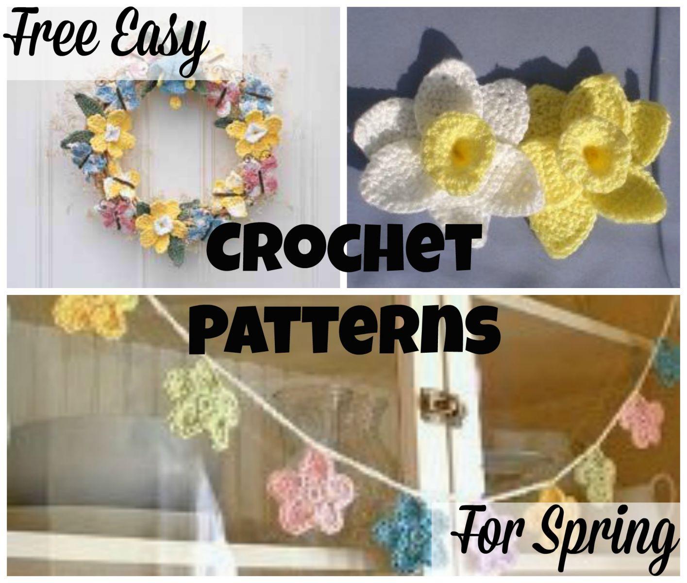15 Free Easy Crochet Patterns for Spring | AllFreeCrochet.com