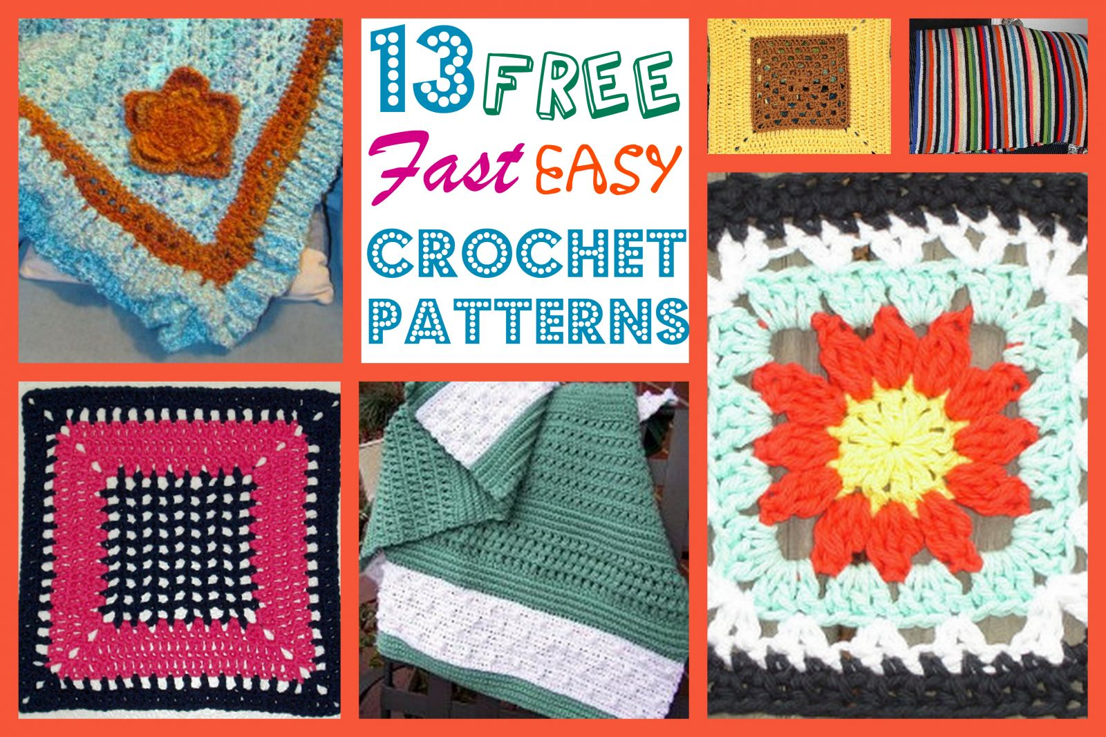 13 Free, Fast, Easy Crochet Patterns | AllFreeCrochetAfghanPatterns.com