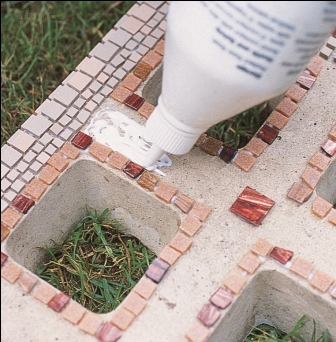 Glue Mosaic Pieces