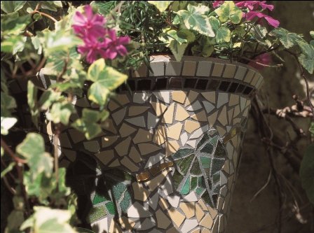 Ivy Mosaic Hanging Pot