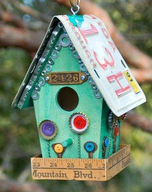 Awe Inspiring Junk Store Birdhouse Favecrafts Com Home Interior And Landscaping Palasignezvosmurscom