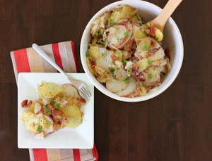German Potato Salad with Bacon and Vinegar