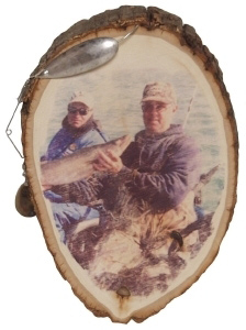 Fishing Frame in Natural Wood Round