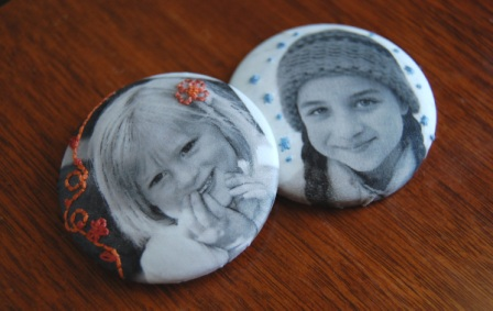 Photo Fabric Buttons Magnets