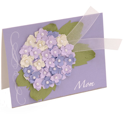 Lilac Bouquet Card for Mom