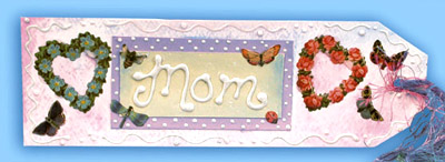 Painted Bookmark for Mom