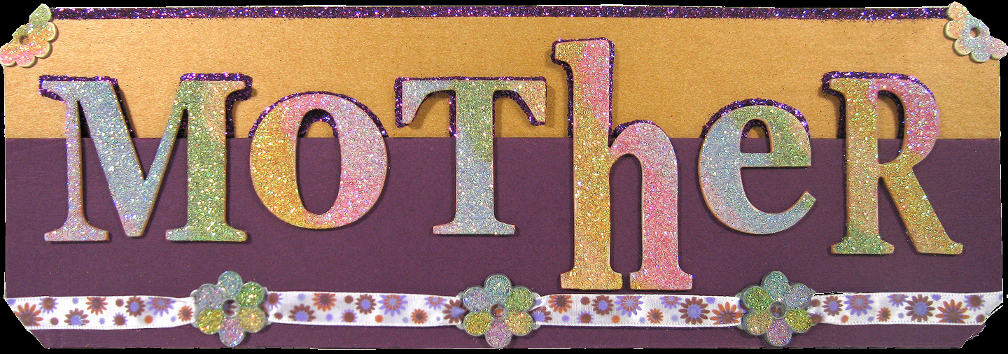 Rainbow Glittered Custom Nameplate