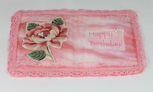 Victorian Fabric Greeting Card