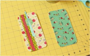 Scrap Fabric Bookmark