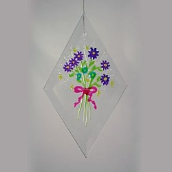 Floral Glass Ornament