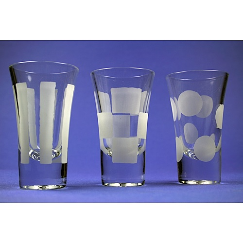 decorated shot glass - Glass Decorations