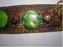 Embellished Recycled Belt Bracelet