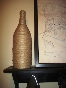 Hemp Wrapped Wine Bottle