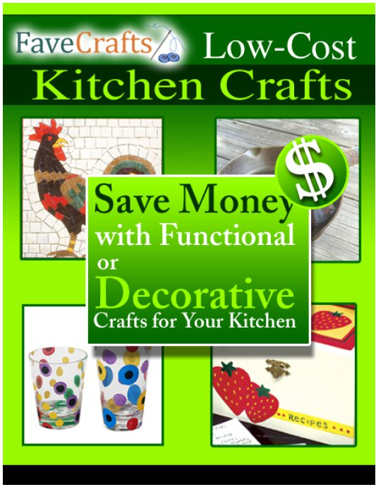 low cost kitchen crafts