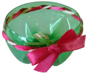 Pop Bottle Dish with Ribbon