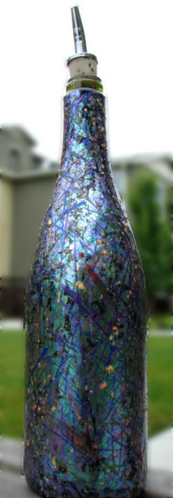 Recycled Bottle with Dichroic Glass Look