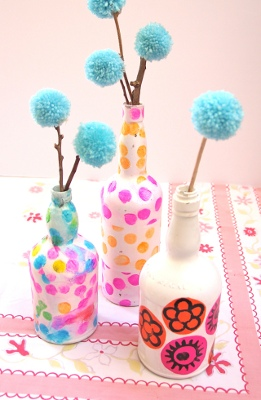 Tissue Wine Bottle Vases