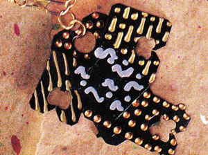 Bread Tag Jewelry Close Up