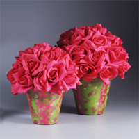 Hot pink centerpiece pots favecrafts no matter what youll love the look of this diy idea and will want to make a bunch for your next party if pink isnt your color use another bright shade mightylinksfo