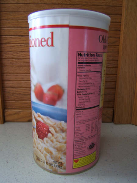 Oatmeal Container