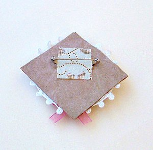 Romantic Paper Bag Brooch