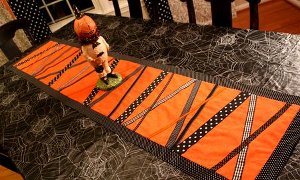 Halloween Ribbon Table Runner