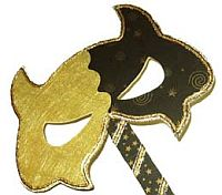 Gold Devil Halloween Mask