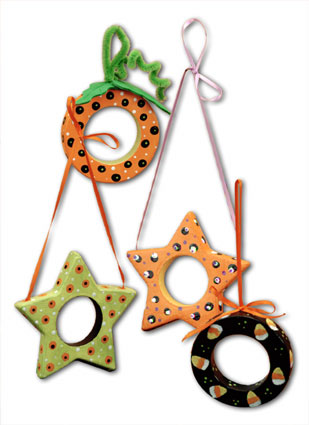 Halloween Ring and Star Ornaments