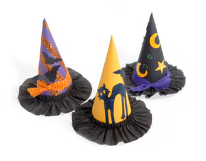 Halloween Witch Party Hats