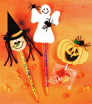 halloween pencil or sucker tops