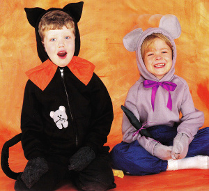 Halloween Cat and Mouse Costumes