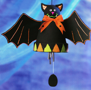 Halloween Bat Windchime