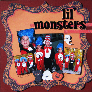 Little Monsters Scrapbook Layout
