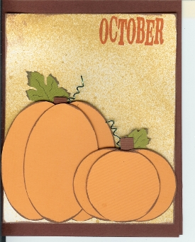 October Pumpkin Card
