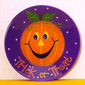 Pumpkin Trick or Treat Plate