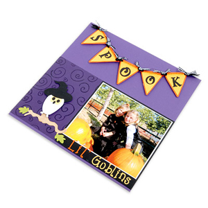 Spooks and Goblins Scrapbook Page