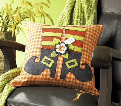 Witch Legs Pillow From Creative Home Arts Club
