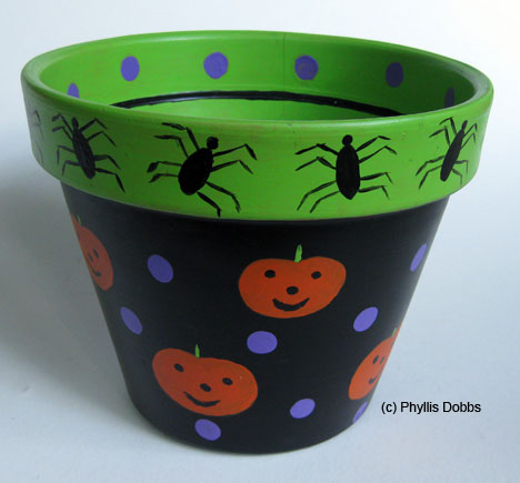 Halloween Candy Pot