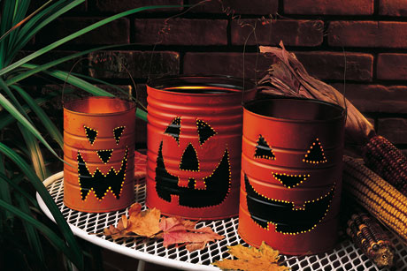 Jack-o-Lantern Halloween Luminaries