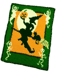 Witch Halloween Throw