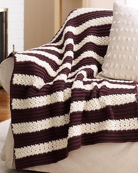 Herringbone Striped Afghan