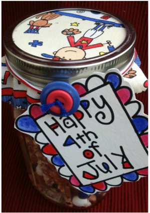 4th of July Mason Jar Snackies
