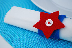 4th of July Star Napkin Rings