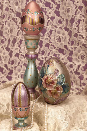 Dazzling Painted Easter Eggs Grouping