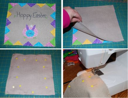 Easter Bunny Applique Pillow Step 7