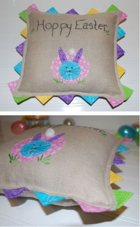 Easter Bunny Applique Pillow