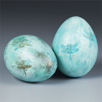 Dragonfly Patina Egg
